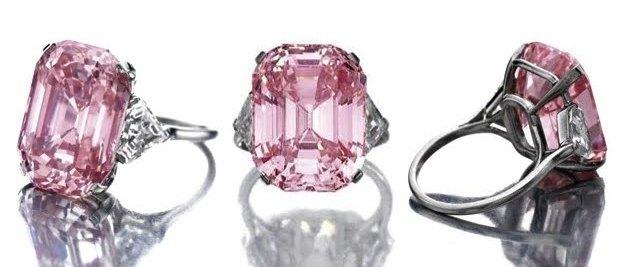 Розовый Графф, самый дорогой в мире бриллиант. фото