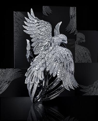 Cartier Secret Watch with Phoenix - наручные часы в виде феникса