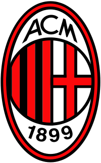 футбольный клуб Милан (Италия). эмблема. фото