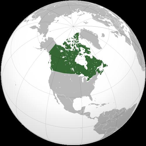 Канада на карте