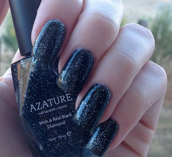 самый дорогой в мире лак для ногтей: Azature Black Diamond. фото