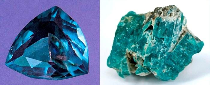 зеленый драгоценный камень Грандидьерит