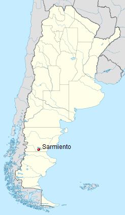 Сармьенто (Sarmiento), самое холодное место в Южной Америке. Фото