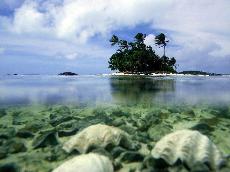 Аитутаки - один из островов Кука. Фото
