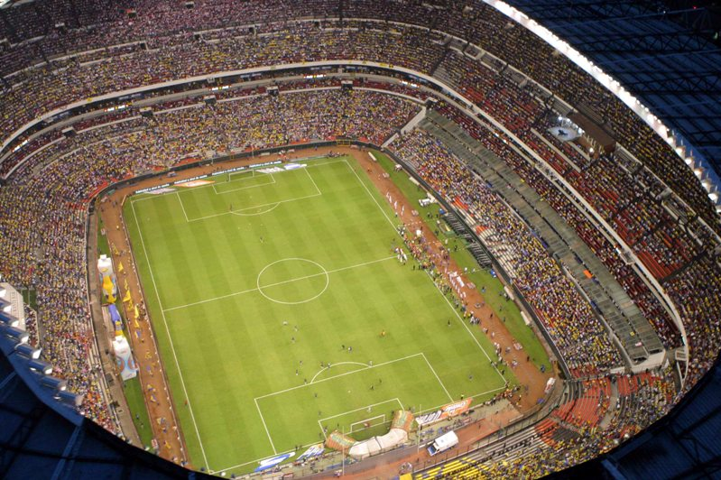 самый большой футбольный стадион в Латинской Америке - Ацтека. Фото / Estadio Azteca. Photo