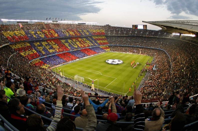 самый большой футбольный стадион в Европе Камп Ноу. Фото / Camp Nou. Photo