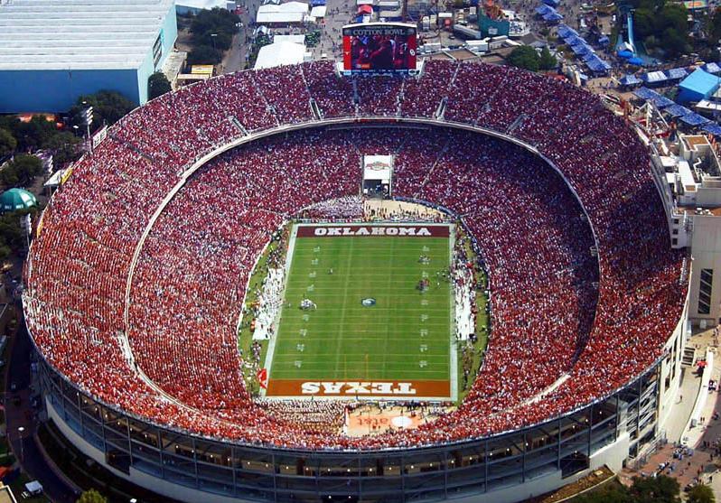 стадион по американскому футболу Коттон Боул. Фото / Cotton Bowl Stadium. Photo