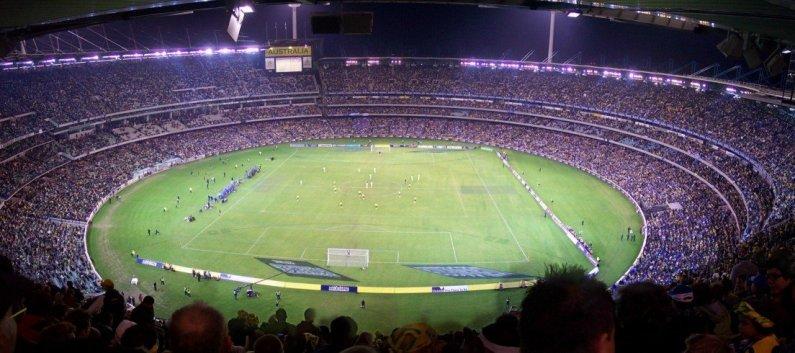 самый большой в мире стадион по крикету Мельбурн Крикет Граунд. Фото / Melbourne Cricket Ground. Photo