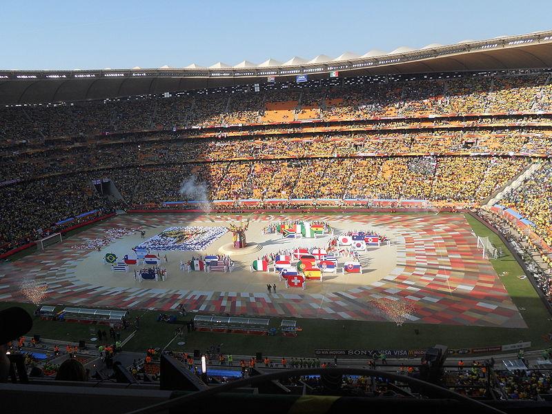 самый большой футбольный стадион Африки Соккер Сити. Фото / Soccer City. Photo