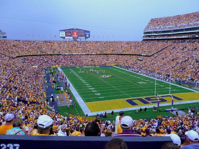 стадион по американскому футболу Тайгер Стэдиум. Фото / Tiger Stadium. Photo