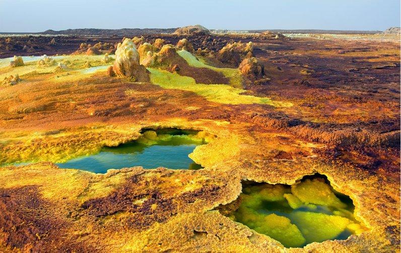 Даллол (Эфиопия), самое жаркое место в мире. Фото